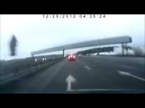 Plane Crashes into Russian Highway