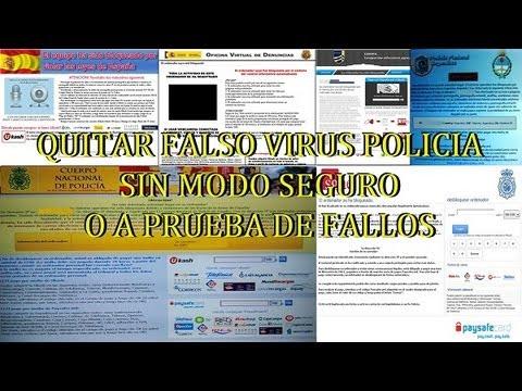 Eliminar  el VIRUS de  Falsa multa 100 euros de la POLICIA o de las SGAE sin arranque en modo seguro