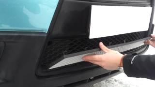 Видео: Установка защиты радиатора Mitsubishi ASX черная