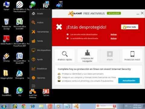 como desactivar el antivirus AVAST 2014