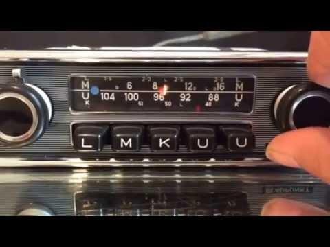 Chromelondon.com BLAUPUNKT FRANKFURT 12v+/- CLASSIC CAR CHROME/PINSTRIPE RADIO WITH WARRANTY and MP3