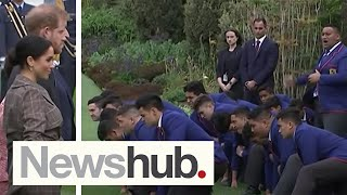 Incredible haka for Meghan Markle, Prince Harry in Wellington, New Zealand | Newshub