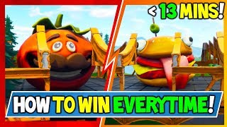 *NEW* HOW we WON FOOD FIGHT IN 7 MINS post wall: INSANE METHOD! Food Fight Gameplay + Fortnite Tips