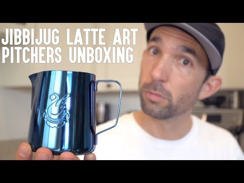 Jibbi Little JibbiJug Unboxing | Latte Art Milk Pitchers & Milk Jugs For Days | Real Chris Baca