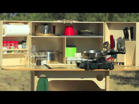 Family adventure video my camp kitchen youtube for Camp kitchen designs