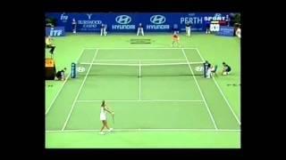 Kim Clijsters v Iroda Tulyaganova WTA Hopman Cup Highlights