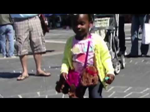 Cute Little Girl Dancing on the Pier in San Francisco