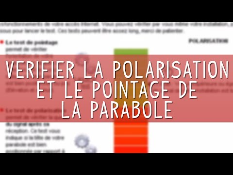 v rifier la polarisation et le pointage de la parabole du kit internet satellite nordnet youtube. Black Bedroom Furniture Sets. Home Design Ideas