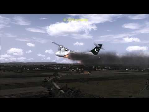 PIA ATR42-500 Crash Close Islamabad / پی آئی اے کے طیارے کے حادثے کی پرواز 661