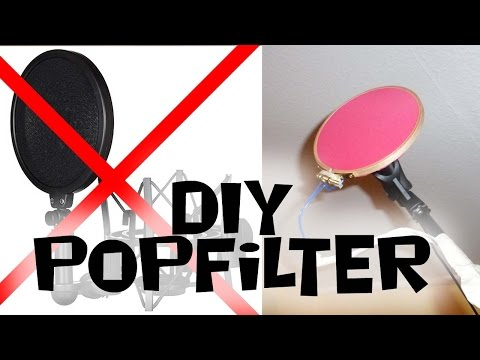 Popschutz Leicht Gemacht/How To Build A Popfilter | DIY-Tutorial [Deutsch/Eng. Sub.]