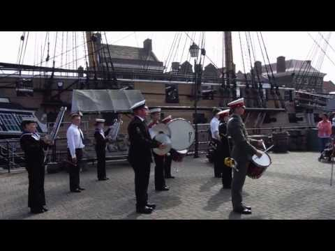 Hartlepool Sea Cadet band at HMS Trincomalee