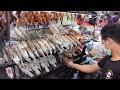 Thai Street Food Pla Pao Roasted Fish At Central World Street Food Stalls In Bangkok mp3