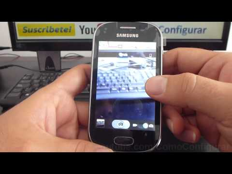 Como guardar fotos en la MicroSD en Android samsung Galaxy Fame S6810 español Full HD