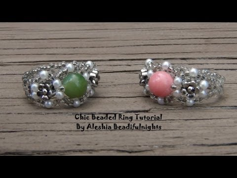 Chic Beaded Ring Tutorial