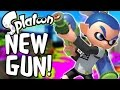 Splatoon - NEW GUN - SPLATTER SHOT! - Splatoon Multiplayer Gameplay (Splatoon Wii U)