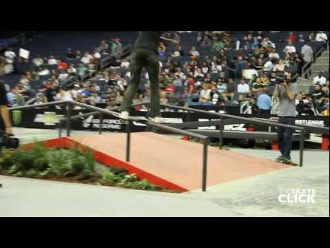 Ishod Wair kick flip backside lip SLS Ontario 2012