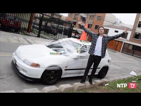 ENVOLVIENDO EN PLASTICO EL CARRO DE MI MEJOR AMIGO   BROMA - (NTPtv)
