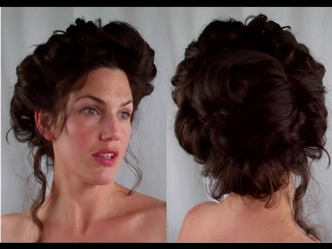How to  GIBSON girl Hair  EDWARDIAN/ VICTORIAN vintage RETRO Hairstyle tutorial Vintagious