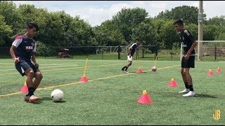 Preseason Soccer Drills - Passing - Receiving - Fitness On The Ball!
