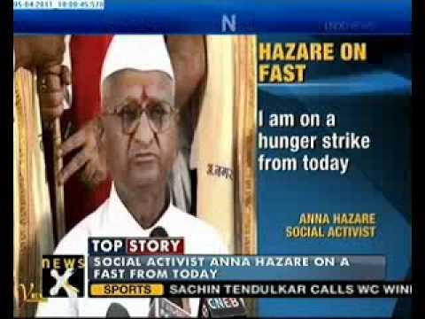 Anna Hazare begins fast over Lokpal Bill