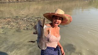 Farm girl in the wild ep 1 : shark fishing and cooking shark curry !🦈