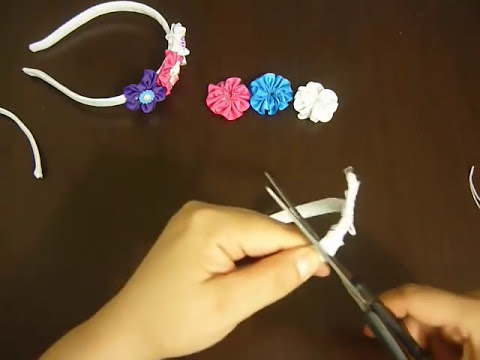 Como decorar una diademas en cintas facilmente . video No.02 Manualidades la hormiga