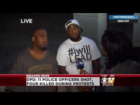 Mark Hughes, man Dallas PD called shooting suspect, speaks to media