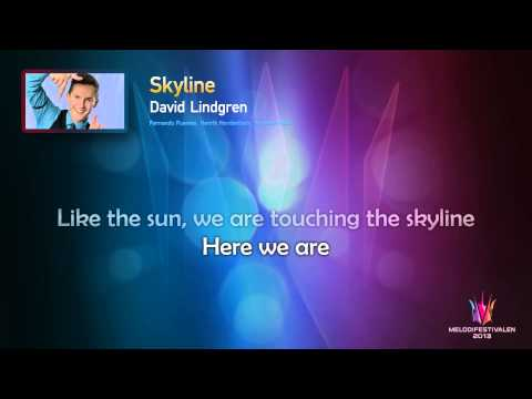 "David Lindgren ""Skyline"" -- (On screen Lyrics)"