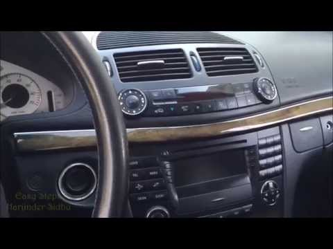 How To Remove Radio Command Unit   CD Changer   Gear Shifter Box   Mercedes E Class W211