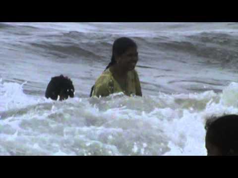 Fighting Against The Wave Of Sea Water....Puri,Odisha.