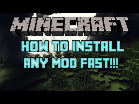 (1.6.4) How To Install Any Minecraft Mod Fast and Easy!!!