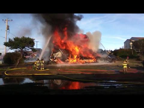 Casas quemandose