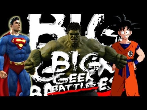 WWE 13 Powerhouse Extreme Rules Match! Superman VS Hulk VS Goku! BKBN.net Big Geek Battles!