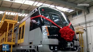 Chinese-made double-decker train for Sydney rolls off line