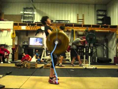 olympic weightlifting snatch slow motion bar trajectory kinovea USAW Image 1