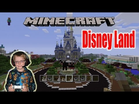Minecraft Xbox 360 Map Showcase DisneyLand Again!