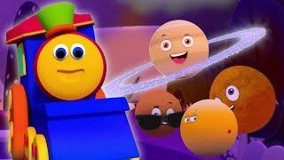 Bob train   Hành tinh song   Bài học trước tuổi đi học   Bob Train Planets Song   Educational Song
