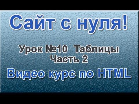 """""""Сайт с нуля"""" Урок №10 Таблицы. Часть 2. ( Видео курс по HTML )"""