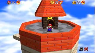 Super Mario 64, Forteresse de Whomp - En haut de la forteresse (Niveau 2, Etoile 2 sur N64 mini)