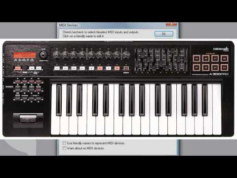 SONAR: Get Started - MIDI Devices and Controller Setup