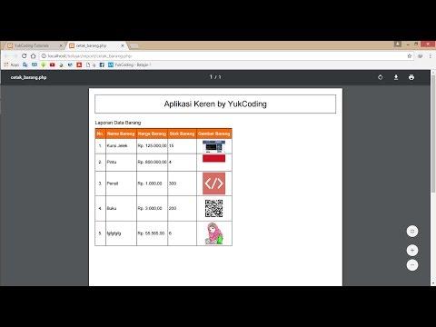 Membuat Report PDF dengan Looping Gambar Menggunakan html2pdf & PHP Mysqli (10)