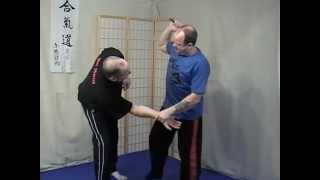 Kubotan pressure point strangle defence