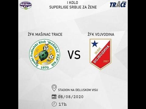 1. kolo Superlige Srbije za žene: ŽFK Mašinac Trace - ŽFK Vojvodina, Niš, 8.8.2020.
