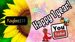1st Year On YouTube | My First Official Upload on YouTube
