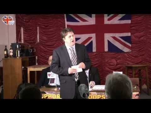 Nick Griffin delivers speech at Salford Meeting