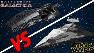 Imperial II Star Destroyer vs the Battlestar Galactica | Star Wars: Who Would Win