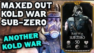 Kold War Sub-Zero MAXED OUT in MKX Mobile 1.9. All stats and special moves!