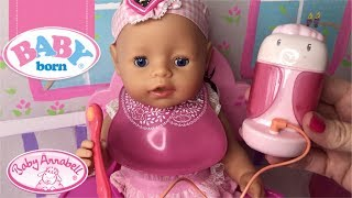 Baby Born Video trying the new ANNABELL MAGIC MEAL FEEDING SPOON AND FOOD COMBO