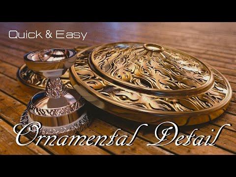 Blender Tutorial : Quick Easy Ornamental Detail