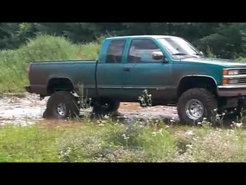 Chevy 1500 Mudding On The Track Youtube